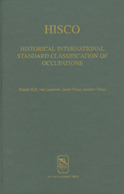 Marco H.D. van Leeuwen, Ineke Maas and Andrew Miles (eds.), HISCO. Historical International Standard Classification of Occupations, Leuven University Press, Leuven 2002.